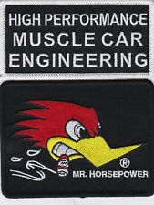 MUSCLE CAR ENGINEERING SEW/IRON PATCH EMBROIDERED FORD CHEVY DODGE