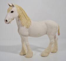 "2012 White Shire Mare Draft Horse 5"" Schleich PVC Action Figure"