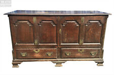 Charming Old Antique English Oak Mule Chest, Coffer, Blanket Box