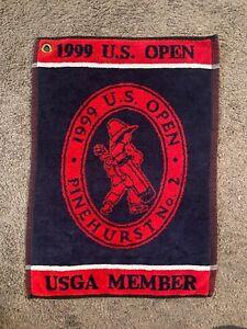 Rare 1999 USGA US Open Pinehurst No. 2 Golf Towel Payne Stewart