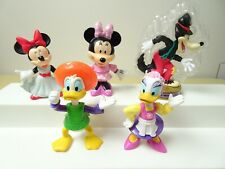 """New listing Disney 3"""" Epcot Center Donald Daisy Big Bad Wolf Minnie Mouse figurine toy lot"""