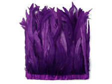 "Coque Feathers | 1 Yard - 10-12"" Purple Bleach and Dyed Coque Tails Long Feather"