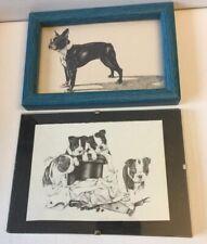 Boston Terrier Framed Small Prints 2 Design