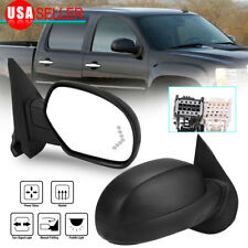 Passenger Right Side Mirror for 07-13 Silverado Sierra Power Heat Signal Puddle