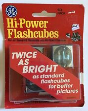 GE Hi-Power Camera Flashcubes 4 left in 6 pack