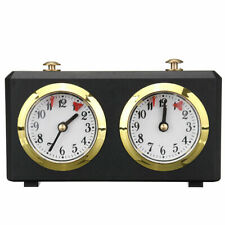 Analog Chess Clock I-GO Count Up Down Alarm Timer For Game Competition Metal US