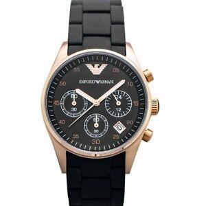 EMPORIO ARMANI AR5906 Black Dial Men's Watch Genuine