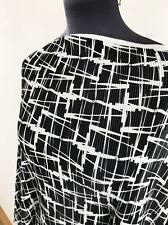 Estilo retro años 60 Abstracto Micro plisado estiramiento jersey Confección Tela SS-2017