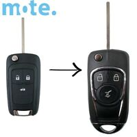 To Suit Holden Barina/Cruze/Trax 3 Button Remote Flip Key Blank Shell/Case/FOB