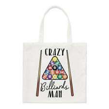 Crazy Billiards Man Regular Tote Bag Funny