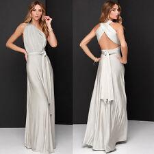 Women Evening Dress Convertible Multi Way Wrap Bridesmaid Formal Long Dresses US