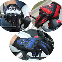 Motorcycle Cool Motorbike Racing Motocross Gloves Full Finger Protective  M L XL