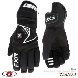 New 2021 FXR Men's Transfer E-Tech Heated Snowmobile Glove Black SM MD XL 3X