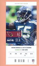Arizona Cardinals at Seattle Seahawks 2018 NFL ticket Frank Clark photo Michigan