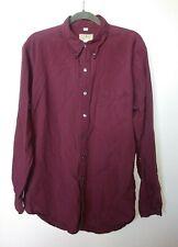 L.L. Bean  Mens Shirt Size XL Long Faded Red Blue Plaid Long Sleeve Button Down