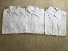 Lot Of 3 Men's Chef's Edge Short Sleeve Cooking Shirts/ Size S/ NBW