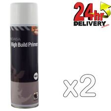 2 x Indasa White One Pack High Build Acrylic Based Primer 500ml Aerosol