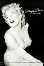 "Marilyn Monroe ""I wanna be loved by you"" - Black and White, Poster Print,"