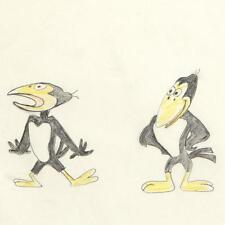 """Terrytoons """"Heckle and Jeckle"""" Original Pencil Production Drawing (1970's) Coa"""