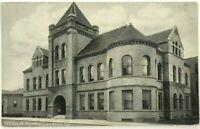 Santa Cruz California 1900's Court House CA Black & White Street View Postcard