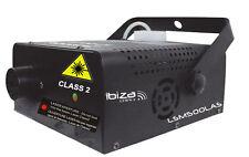 Jeu de lumière Laser et machine à fumée 2 en 1 IBIZA LSM500LAS laser 130mW