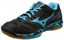 Mizuno Volleyball shoes wave Reideen V1GA1620 Black × Light Blue × Dark Gray