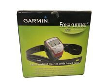 Garmin Forerunner 305 GPS Running Watch Heart Rate Monitor w/ Charger, Strap Etc