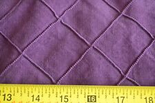 "By 1/2 Yd, 39"" Wide, Purple Textured-Diamond on Mini-Wale Corduroy, A497"