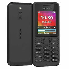 BRAND NEW NOKIA 130 Black MOBILE PHONE ON (EE,T MOBILE,ORANGE) NEW SEALED