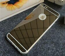 Hybrid Spiegel-Case para Móvil iphone-6, Espejo Estuche Alu / TPU Cover Negro