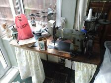 More details for singer sewing machine on large table (industrial, includes an overlocker)