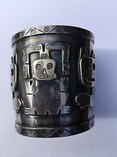 Cuff Bracelet Graziella Laffi of Peru Modernist Artist Designer Sterling .925
