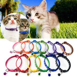 Foot Print Pet Collar Dog Cat Collar Safety With Bell Cat Head Adjustable Buckle