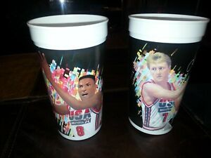 New! Lot of 2 1992 USA Olympic Dream Team McDonalds Cups PIPPEN & BIRD