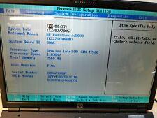 HP Pavilion dv8000 2GB RAM, Intel T2400 @1.83GHz, w7 pro, 100GB HDD