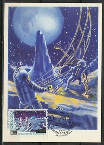 Soviet Russia 1962/77 Space Maxi Card Communication with Earth