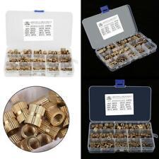 M2-M10 Brass Cylinder Knurled Threaded Round Insert Embedded Nuts Set 210 Pcs Us
