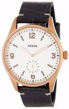 $145 Fossil Vintage Men's Analog Round Three-Hand Black Leather Watch FS5247