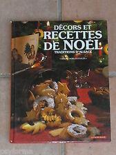 Livre cuisine RECETTES DE NOEL Bredele Patisseries d'Alsace Simone Morgenthaler