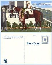1940 Kentucky Derby Winner Gallahadion Horse & Jockey Churchill Downs Postcard