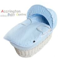 New Dimple Moses Basket Covers 4 Piece Bedding Set Inc Quilt,Skirt,Hood & Sheet
