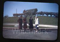 1940s red border Kodachrome Photo slide ladies on vacation Uruguay  Fashion