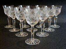 Service de 10 verre  en cristal taillé  Val Saint Lambert  ?