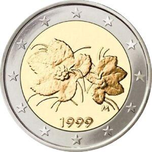1999 FINLAND 2 EURO BU KM #105 BU 1ST YEAR EUROPEAN UNION EURO'S  BU COINS