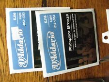 D'addario acoustic guitar strings with mixed lot