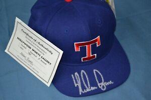 Nolan Ryan Autographed Baseball Hat Texas Rangers COA
