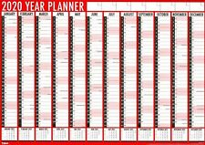 A1 Large 2020 Full Year Planner Wall Calendar Diary Organiser Family Office 3819