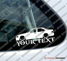 Custom Text / Name, LOW BMW e36 3-Series 4-door Saloon M3, 325i 328i car STICKER