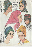 1965 Vintage Sewing Pattern HATS-SMALL & LARGE (R549)