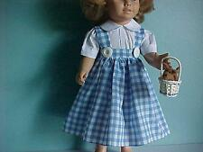 DOROTHY WIZARD OF OZ JUMPER & BLOUSE: Dog & Basket fits Chatty Cathy Dolls